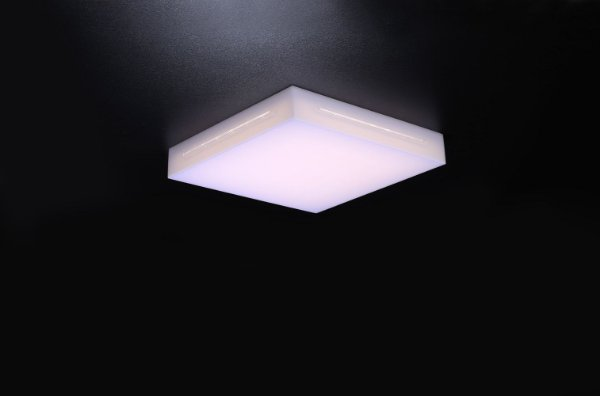 Plafon LED Sobrepor de Acrílico e Alumínio Lontana Branco - Bella Italia