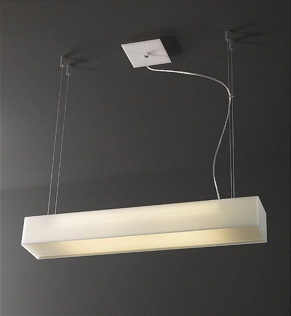 Pendente de Acrílico Laurea 2 x T8 LED Branco - Bella Italia