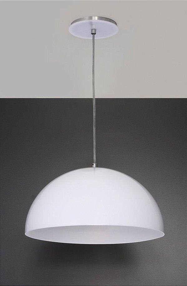 Pendente de Acrílico Luna E27 Branco - Bella Italia
