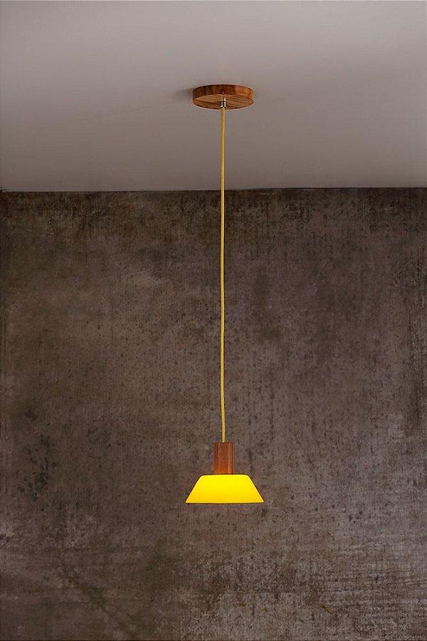 Pendente de Acrílico e Madeira Livia Luce 1 x G9 LED Ø 15 cm - Bella Italia