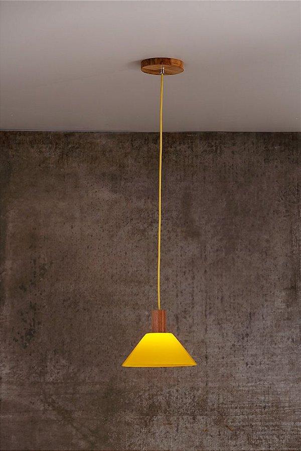 Pendente de Acrílico e Madeira Livia Luce 1 x G9 LED Ø 21 cm - Bella Italia