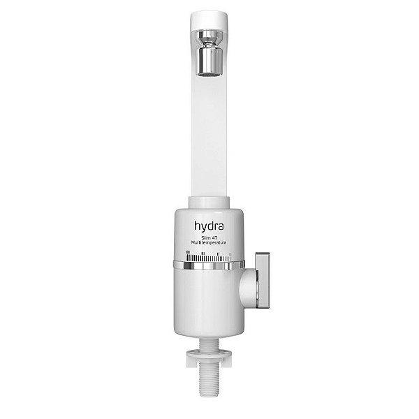 Torneira Elétrica Slim 4T Multitemperatura de Bancada Branca Hydra 127V