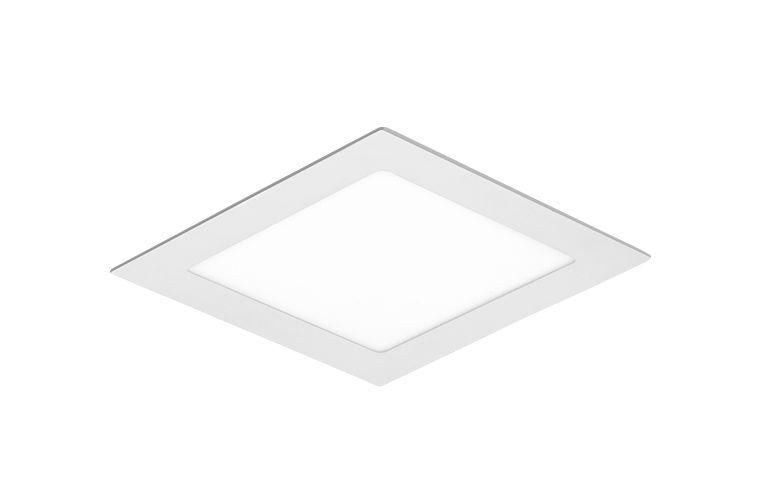 Plafon LED Embutir Quadrado 15cm x 15cm 12W LEDT13 Abalux 3000K Luz Amarela
