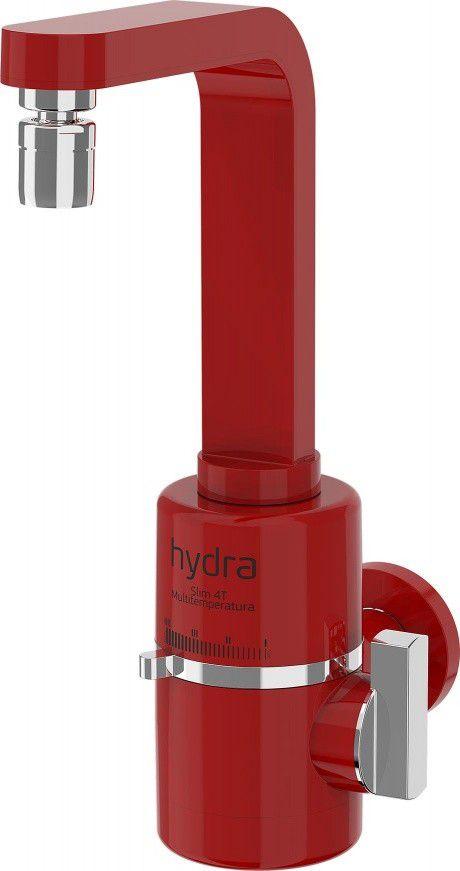 Torneira 4 Temperaturas Slim Parede Tpsl Vermelho - Hydra Corona