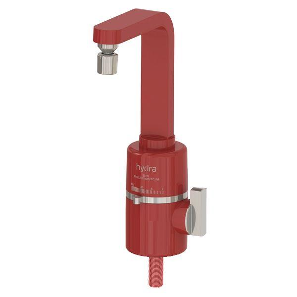 Torneira Multitemperatura Slim Hydra de Bancada Vermelha - 4 Temperaturas
