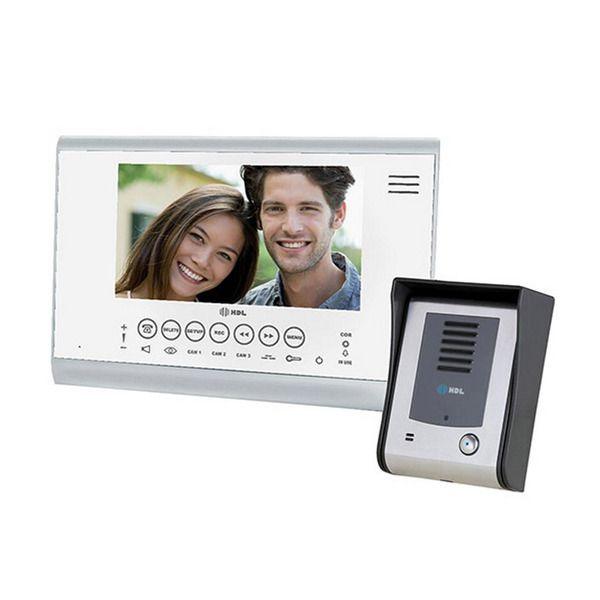 Porteiro Eletrônico HDL com Vídeo Color Sense Seven Memória Preto