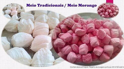 Balas de coco caseiras tradicionais  | Coco e Morango | 1 Quilo