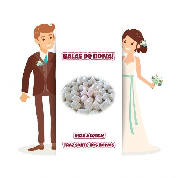 Balas de noiva - Tradicionais brancas - 1 Quilo