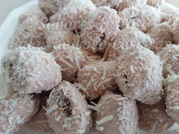 Balas de coco geladas recheadas | Escolha o recheio | 1 Quilo