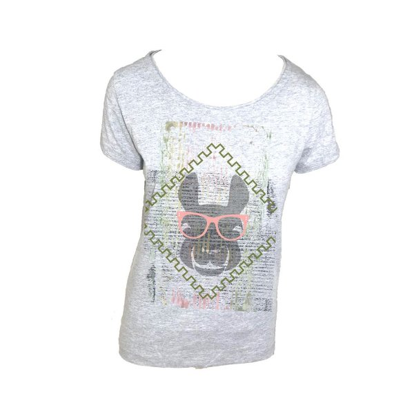 T shirt Lhama branca manga curta
