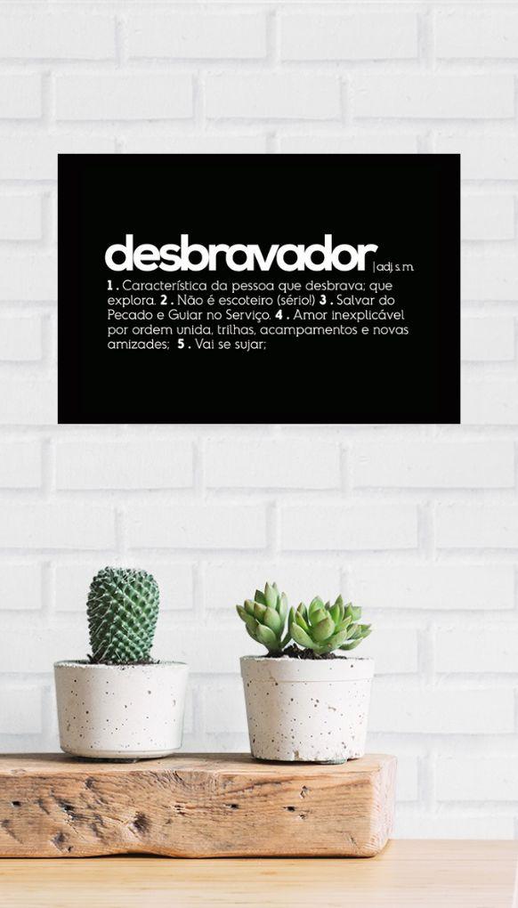 Placa decorativa A4 - DICIONÁRIO