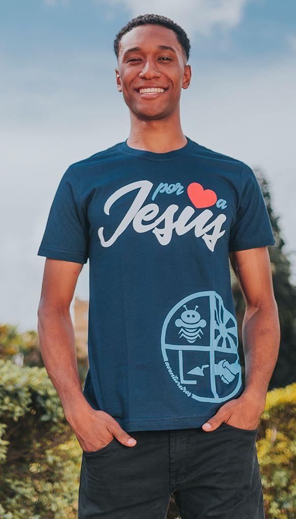 """Camiseta """"POR AMOR A JESUS"""""""