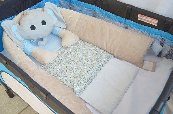 Ninho para bebê - Elefante azul