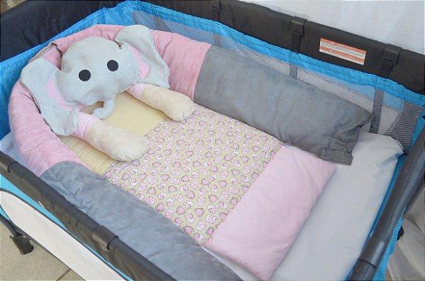 Ninho para bebê - Elefantinha rosa