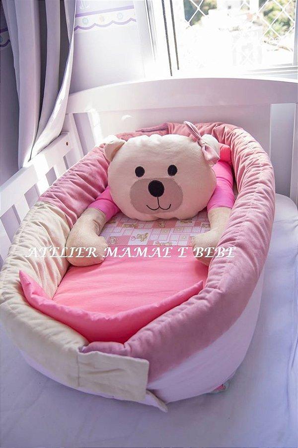Ninho para Bebe - Ursa  Rosa