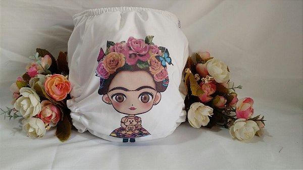 Fraldas personalizadas (Tactel) - Frida Kahlo
