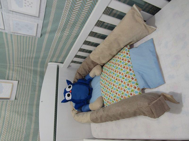 Ninho para Bebe  Coruja Azul