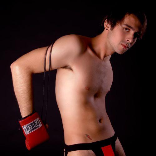 Jockstrap fetiche preto e vermelho cueca sunga