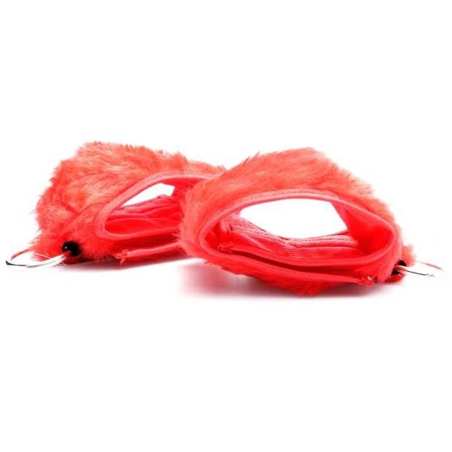 Algema erótica em pelúcia vermelha
