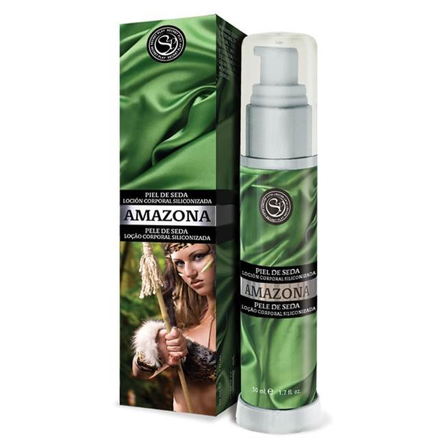 Loção corporal siliconizada - pele de seda amazona  - luxo - importado secret play