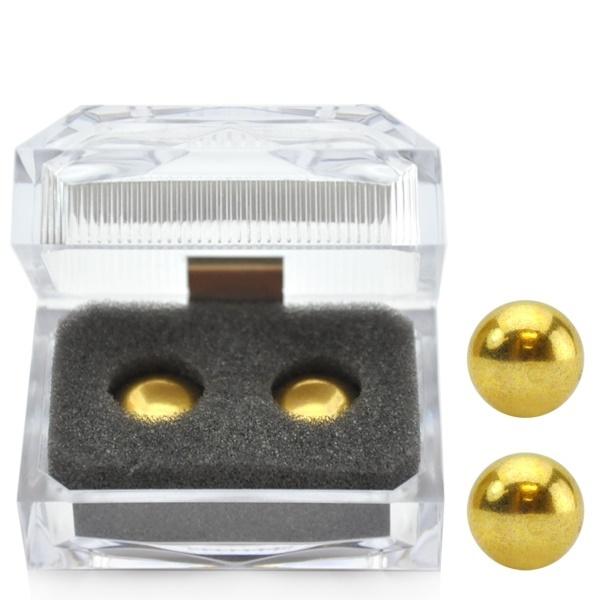 Bolas para pompoarismo douradas - oriental gold ball