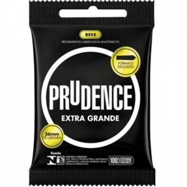Preservativo camisinha prudence extra grande - 3uni