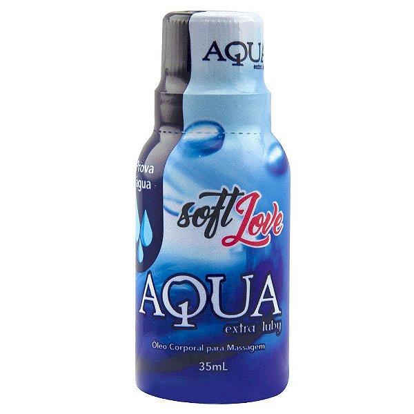 AQUA EXTRA LUBY LUBRIFICANTE SILICONADO 35ML - Não sai fácil na água