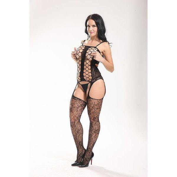 Bodystocking Macacão Rendado