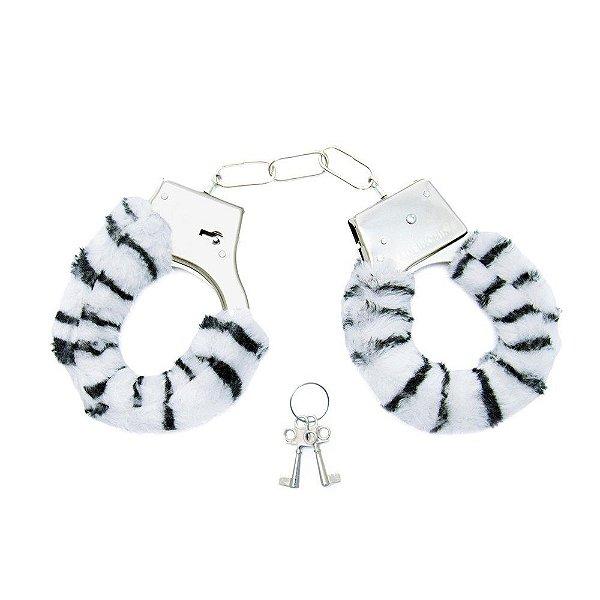 Algema de Pelúcia - Zebra - Hand Cuffs