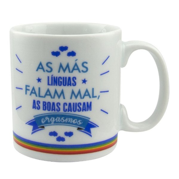 CANECA SENSUAL AS MÁS LÍNGUAS