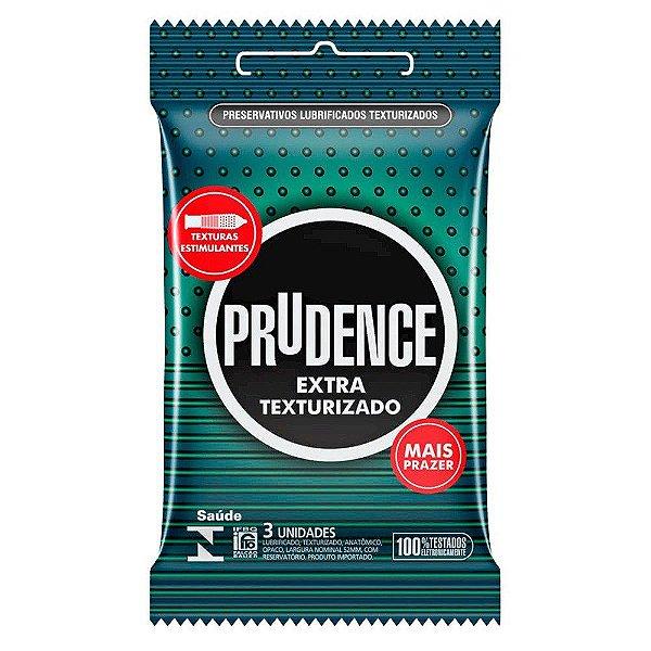 Preservativo camisinha prudence extra texturizada - 3uni