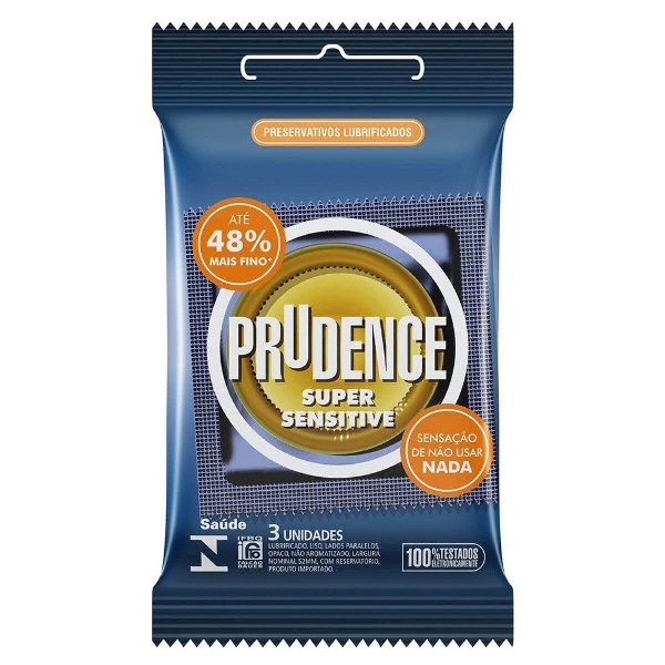 Preservativo camisinha prudence super sensitive - 3uni