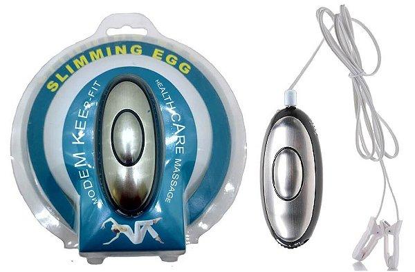 GRAMPOS PARA MAMILOS COM ELETRO-CHOQUE E CONTROLE REMOTO - SLIMMING EGG