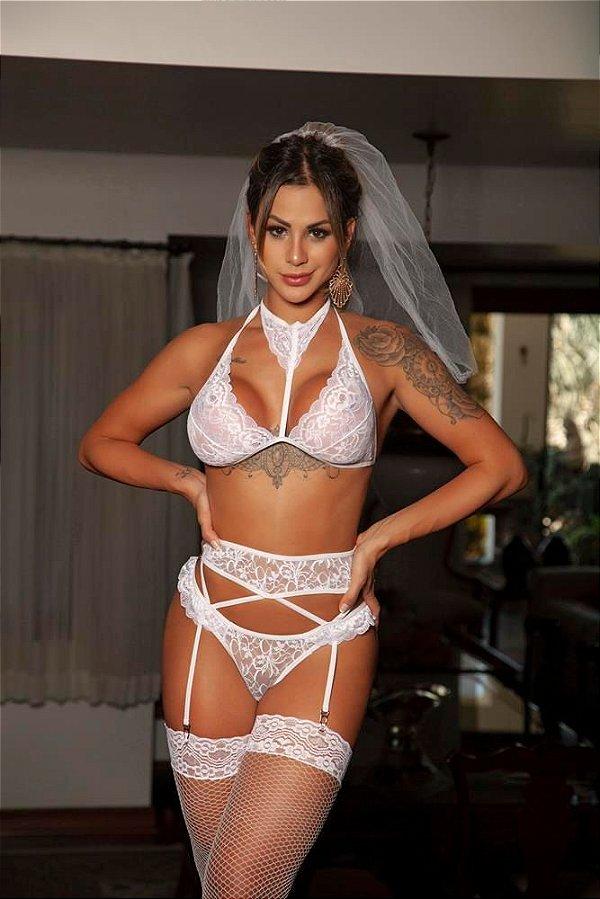 Fantasia Sensual Noiva Charmosa