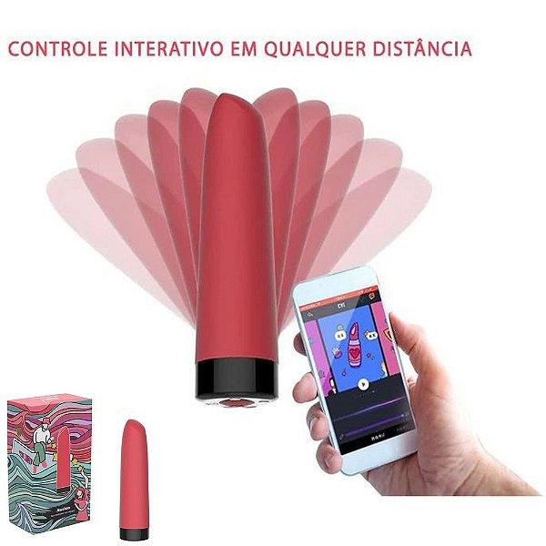 Magic Motion Awaken - Mini Vibrador tipo Batom RECARREGÁVEL E CONTROLE PELA INTERNET VIA APP NO CELULAR SMARTPHONE