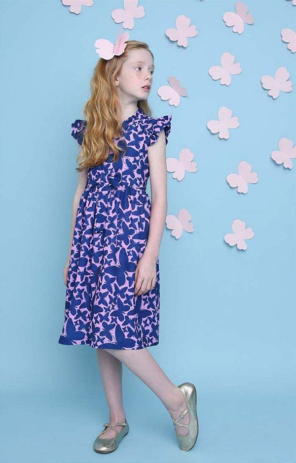 SANTORINI | Vestido Blessinha Estampa Delfos Purple