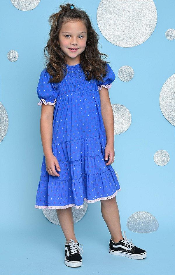 SANTORINI   Vestido Blessinha Blue Creta