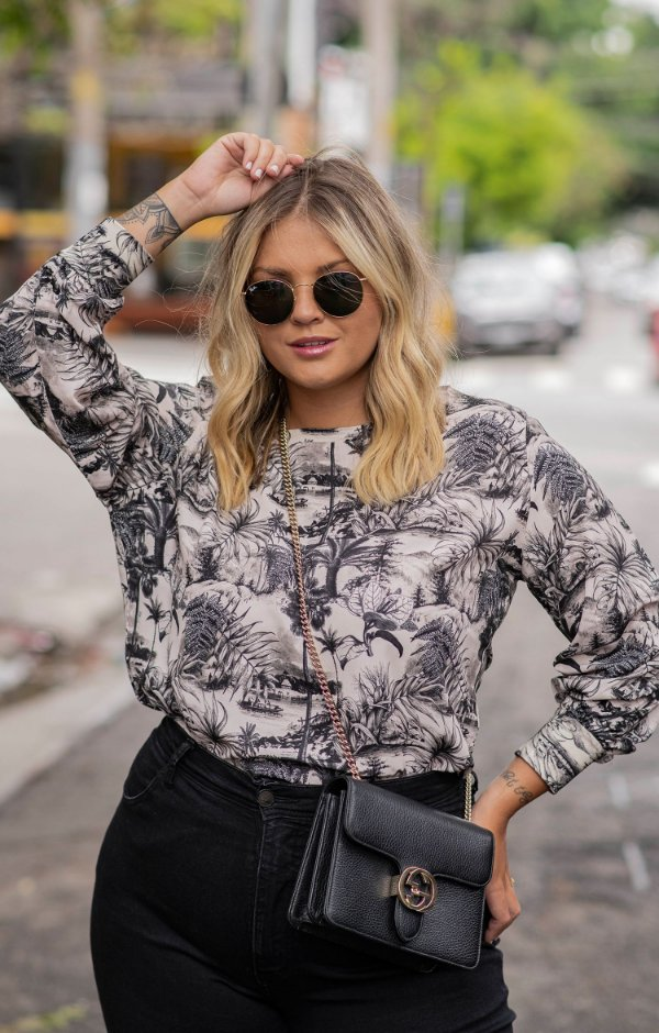 NYC COLLECTION | Blusa Toile de Jouy