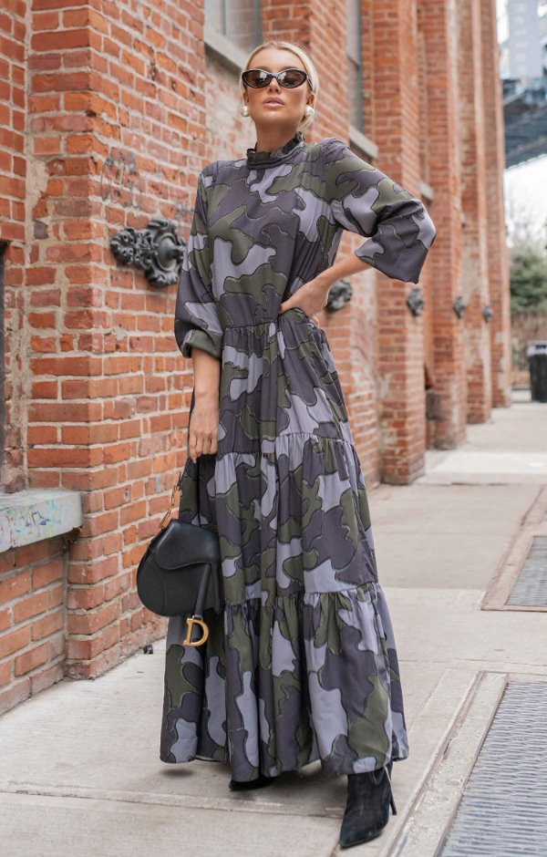 NYC COLLECTION | Vestido Longo Camouflage