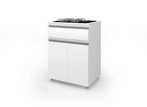 Balcao Movel Bento cooktop 5 bocas ASM186 2 portas 1 gaveta