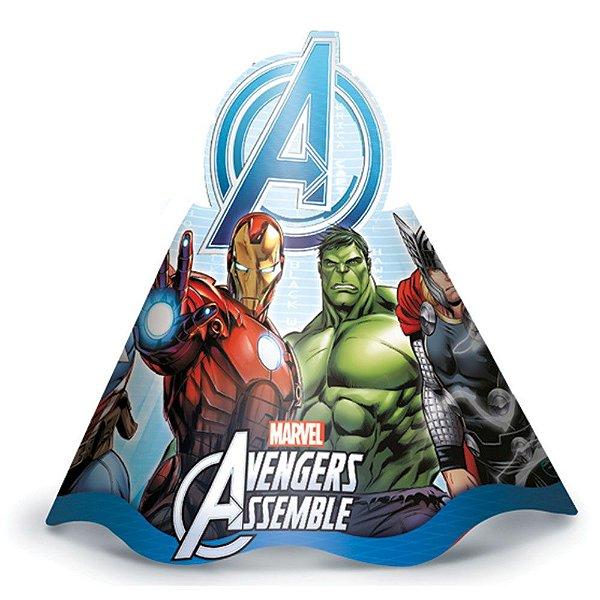 Chapéu de Aniversário- Os Vingadores Animated - 08 unidades