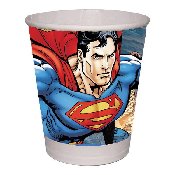 Copo de Papel 200ml - Superman - 08 unidades