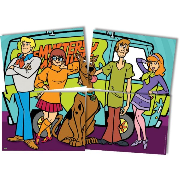 Painel 4 Folhas - Scooby Doo