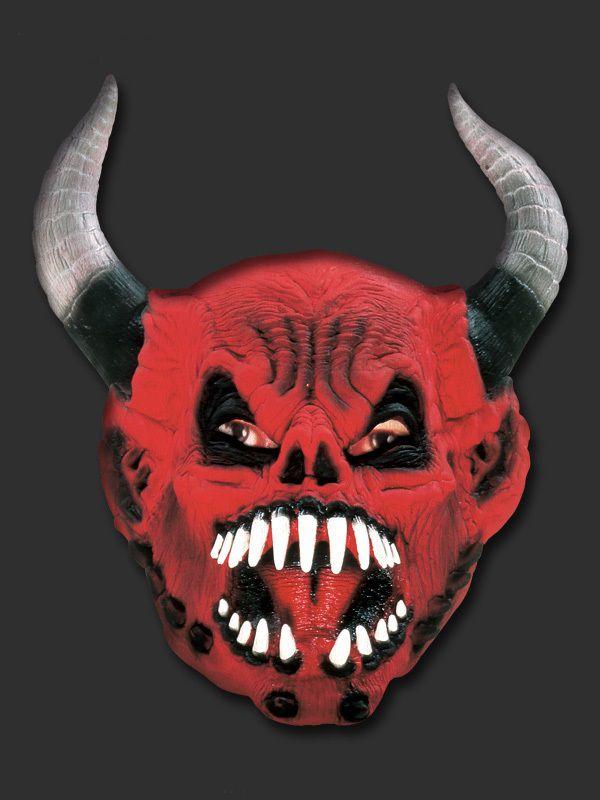 Máscara Inteira Latex - Diabo com Chifre