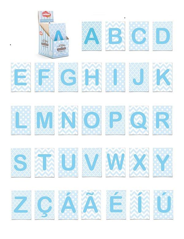 Letras Cartonadas - Azul