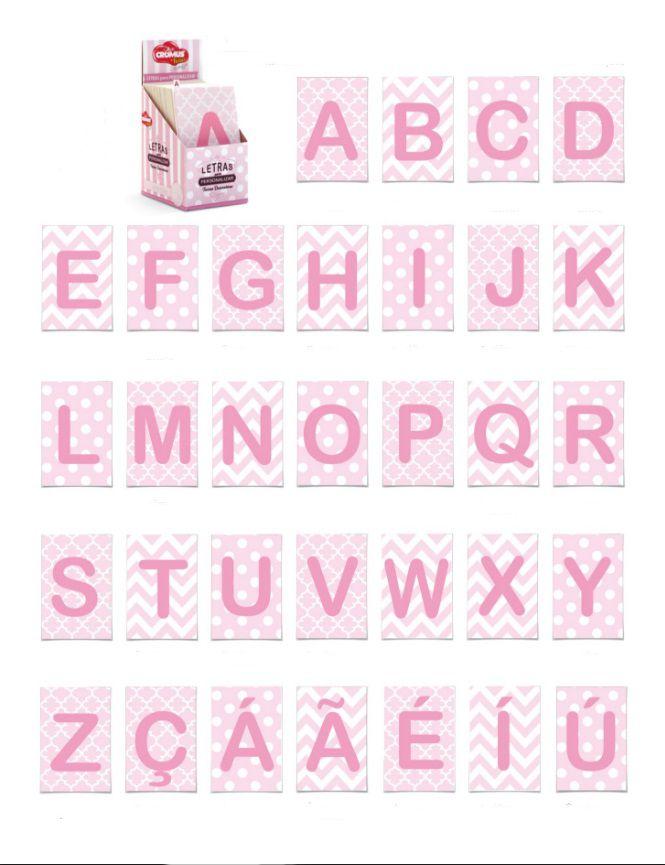 Letras Cartonadas - Rosa