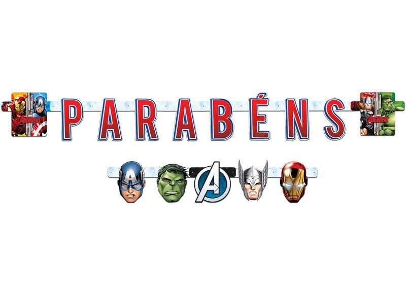 Faixa Feliz Aniversário - Os Vingadores Animated