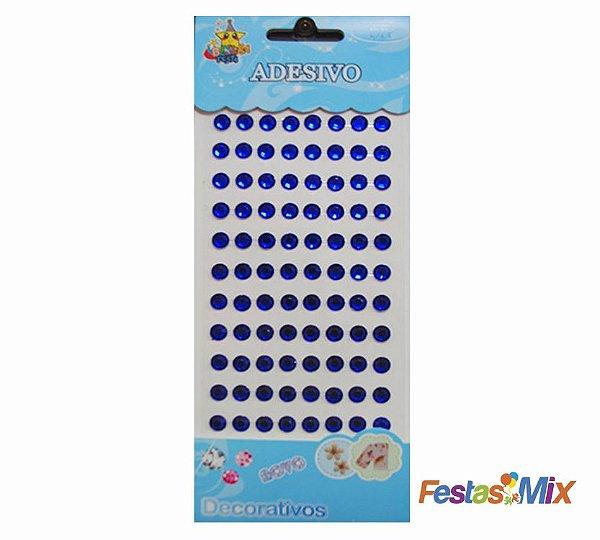 Cartela Adesivos  - Redondo Azul