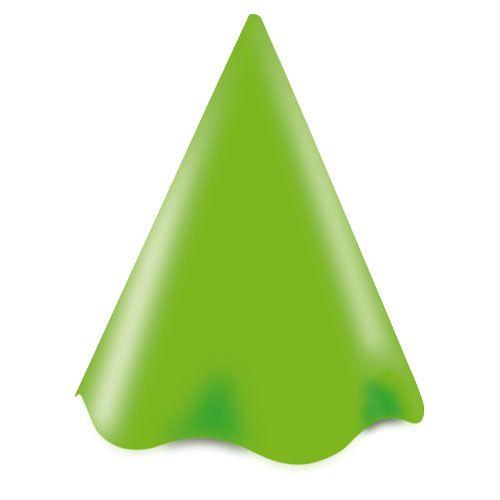 Chapéu de Aniversário Verde Limão- Live Colors - 08 unidades