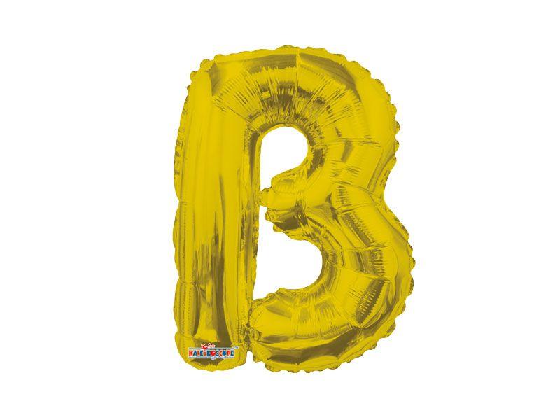 Balão Metalizada 22 cm - Dourada - Letra B